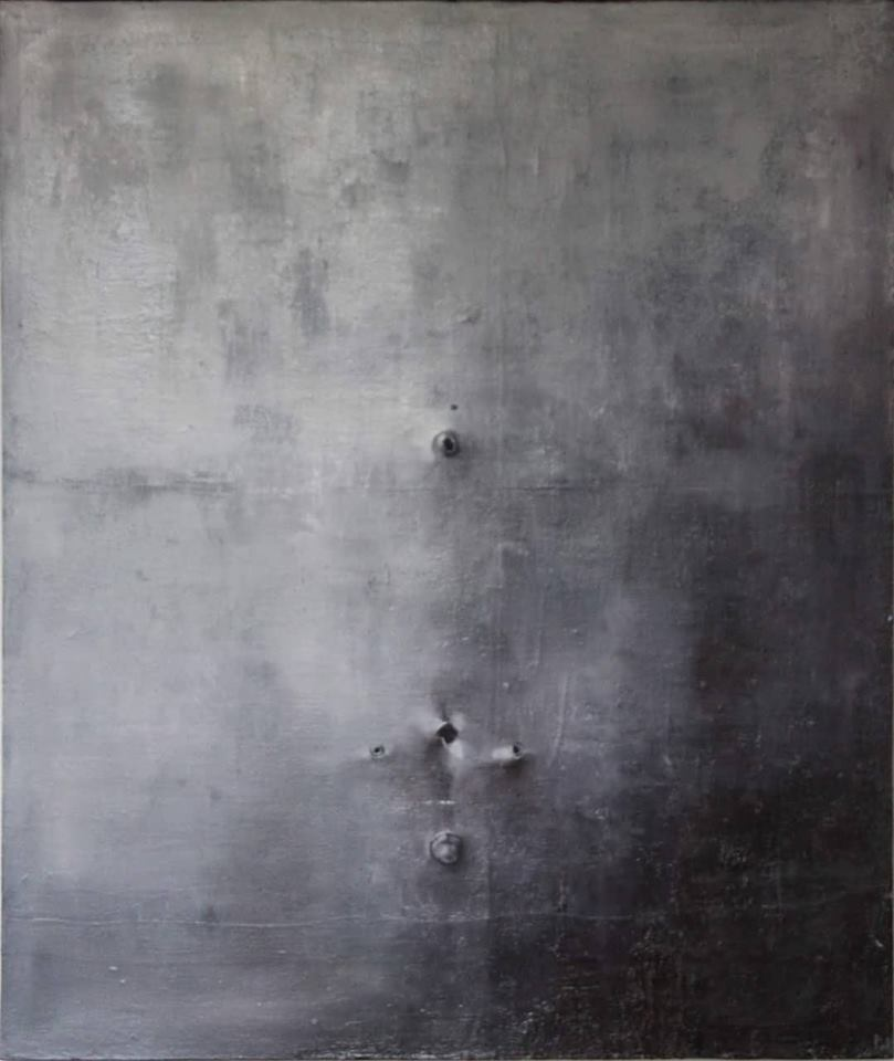 Title: Corrosion No.1 Medium: Oil Size; 124x115 cm Date: 02/10-2016